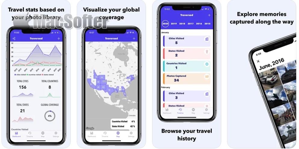 [iPhone/iPad限免] Traversed :记录走遍世界各地旅行美景的神器