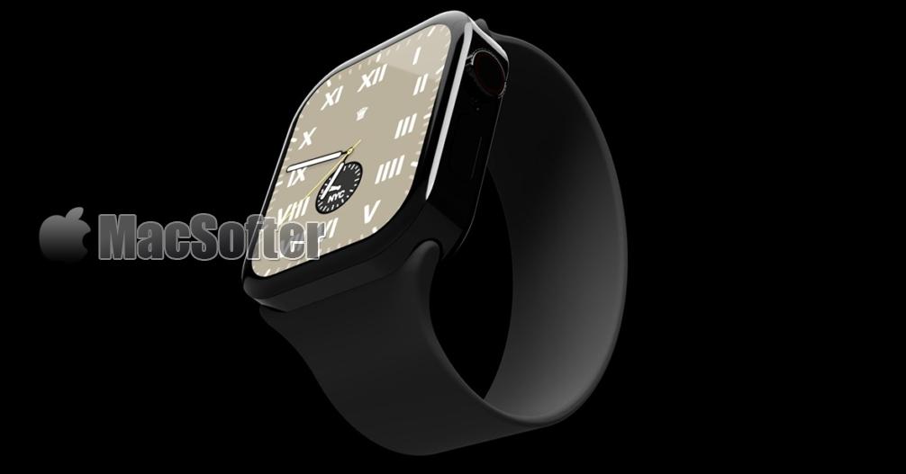 Apple Watch平整边缘设计概念图