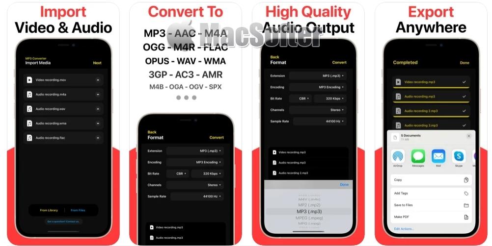 [iPhone/iPad限免] My MP3 Converter :音乐格式转换工具