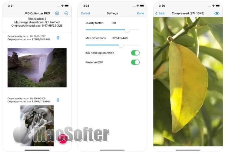 [iPhone/iPad限免] JPG Optimizer PRO :图片大小压缩工具