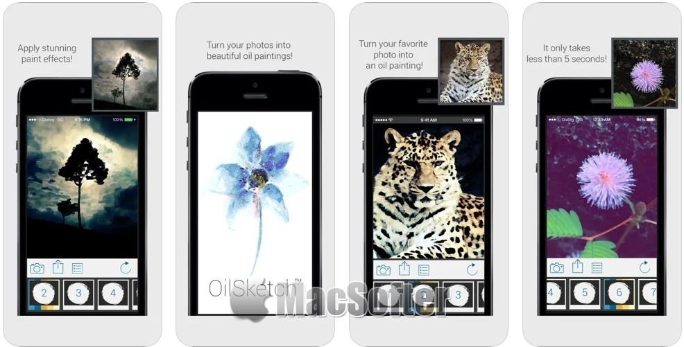 [iPhone限免] OilSketch :油画效果照片编辑处理软件