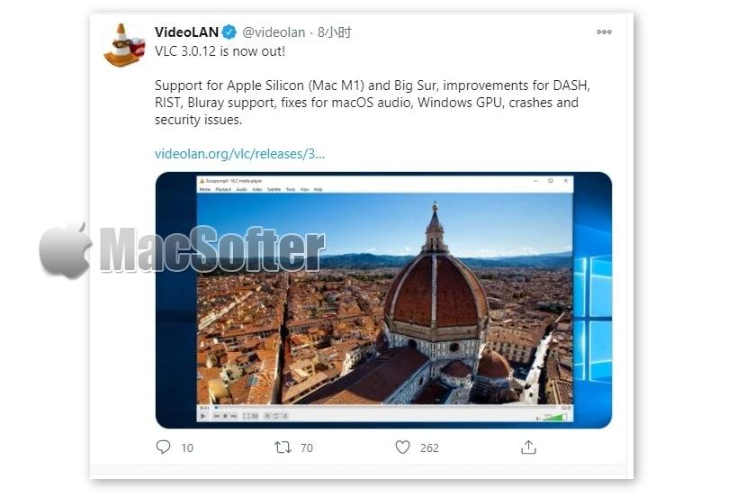 VLC Player视频播放神器全面支持苹果M1 Mac