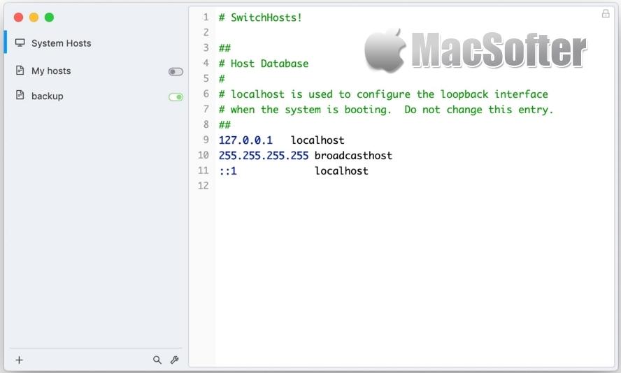 SwitchHosts for Mac :hosts文件快速切换工具