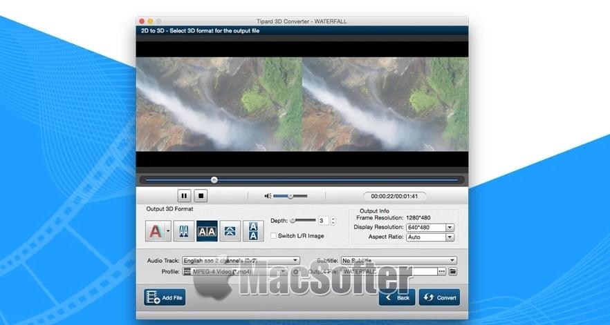 Tipard 3D转换器 for Mac :2D视频转3D视频工具