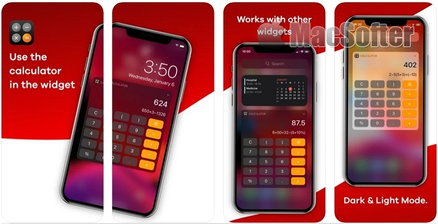[iPhone/iPad限免] Calculator Widget - WCal‪c‬ : 计算器小组件工具