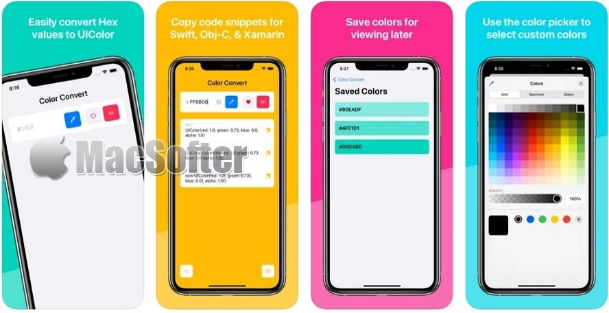 [Mac/iPhone/iPad限免] Color Convert :hex/RGB转UIColor颜色值转换器