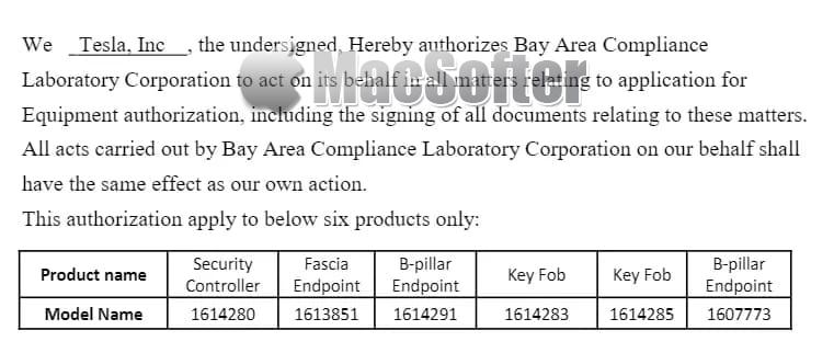 FCC认证资料显示特斯拉或将支持iPhone CarKey解锁和防盗