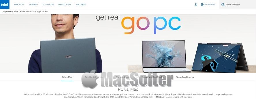 英特尔反击战推出PC VS Mac网站