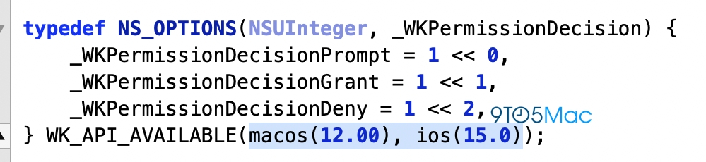 WWDC 2021主角iOS 15及macOS 12现身WebKit代码