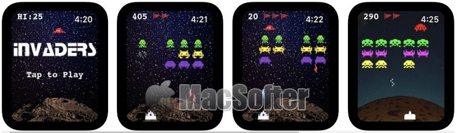 [iPhone限免] 太空侵略者 :支持Apple Watch的太空射击游戏