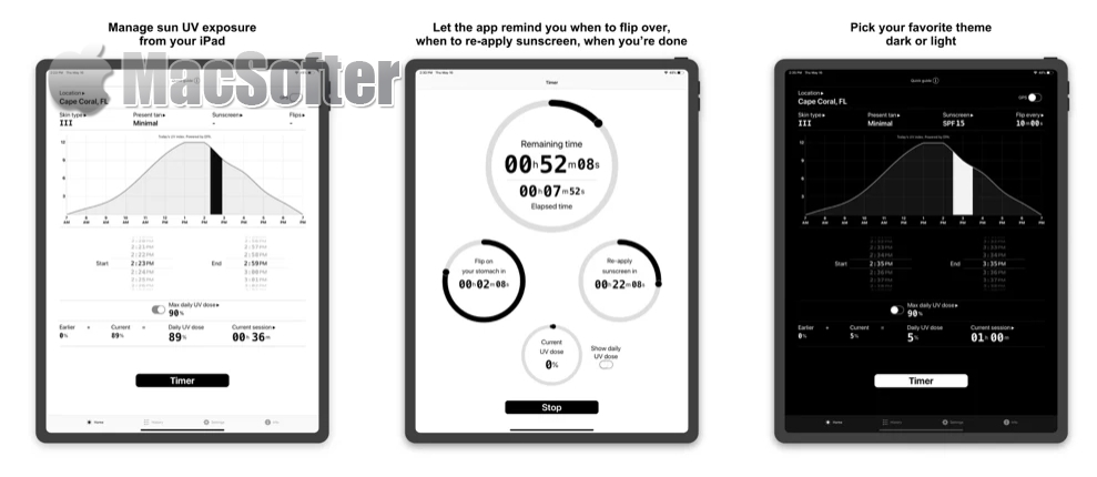 [iPhone/iPad限免] Sola :太阳紫外线指数预测及防晒霜涂抹计时器