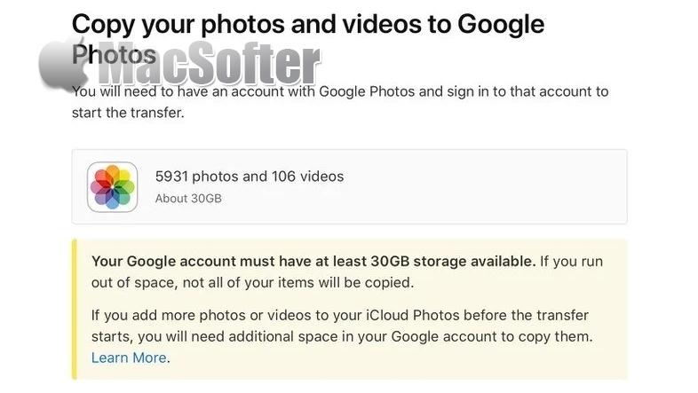 苹果开放新功能 :能将iCloud照片转移到Google相册备份