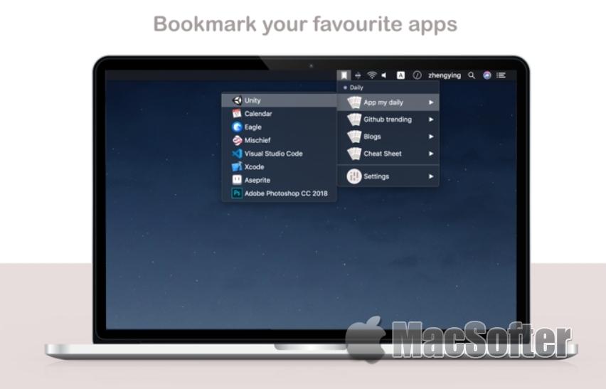 Hungrymark Lite for Mac : 免费的 macOS 菜单栏书签软件