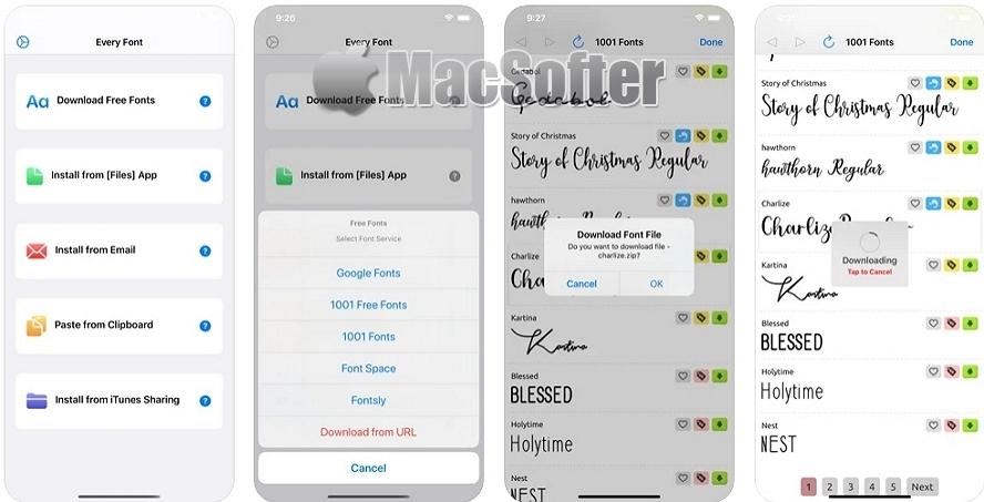 [iPhone限免] EveryFont : 字体管理及安装工具