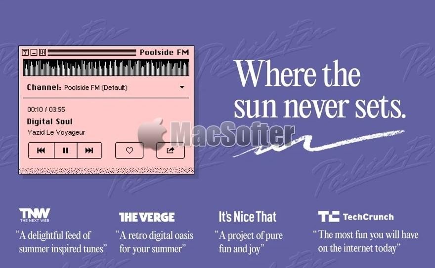 [Mac/iPhone] Poolside FM : 怀旧风格的夏日FM电台软件