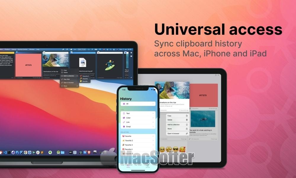 [Mac/iPhone/iPad] PastePal :好用的剪贴板管理工具