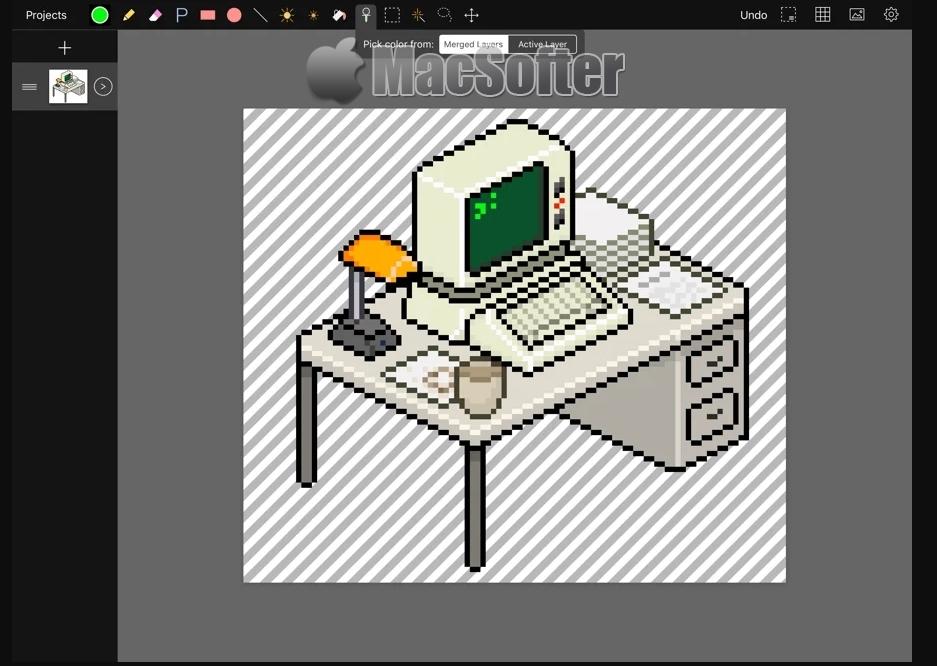 [iPad限免] Pixen :像素风格动画制作工具