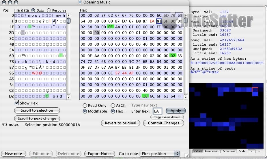 [Mac] PeekIt : 十六进制编辑器