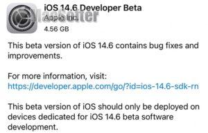 iOS 14.6 首个beta测试版发布:将一路测到iOS 15推出