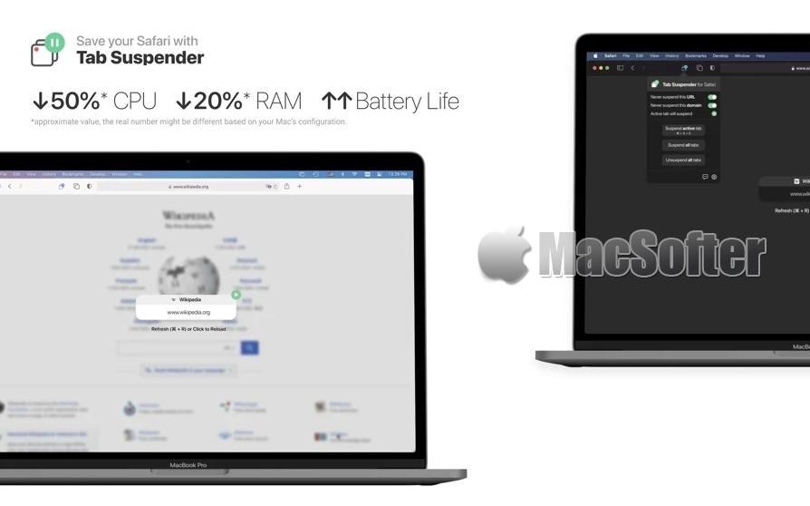 [Mac] Tab Suspender for Safari :冻结不活跃的Safari标签页节省资源消耗