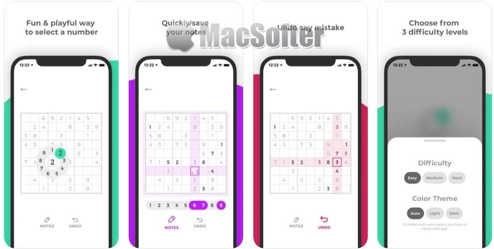 [iPhone/iPad限免] Sudoku Round :经典的数独游戏