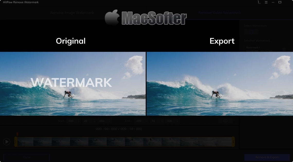 [Mac] HitPaw Watermark Remover : 去除视频和图片上水印的工具