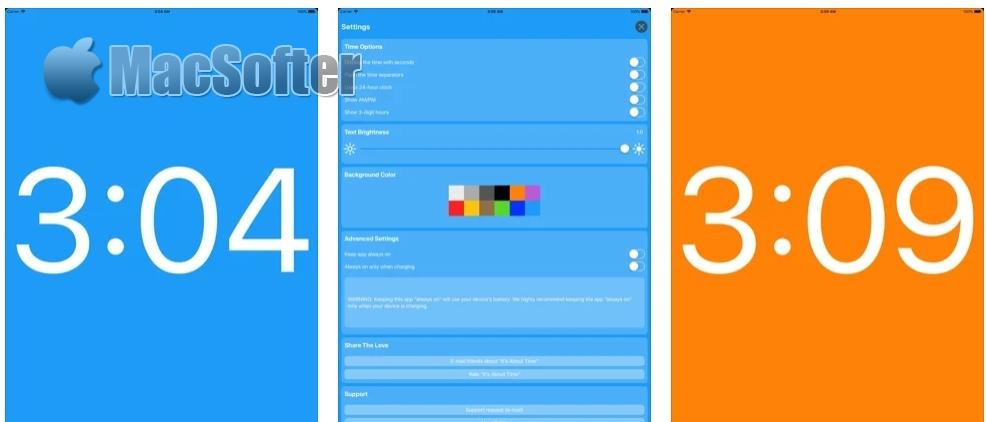 [iPhone/iPad限免] It's About Time! :简洁的时钟软件