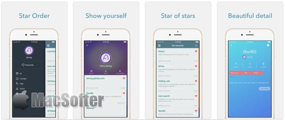 [iPhone限免] Star Order :Github Star管理利器