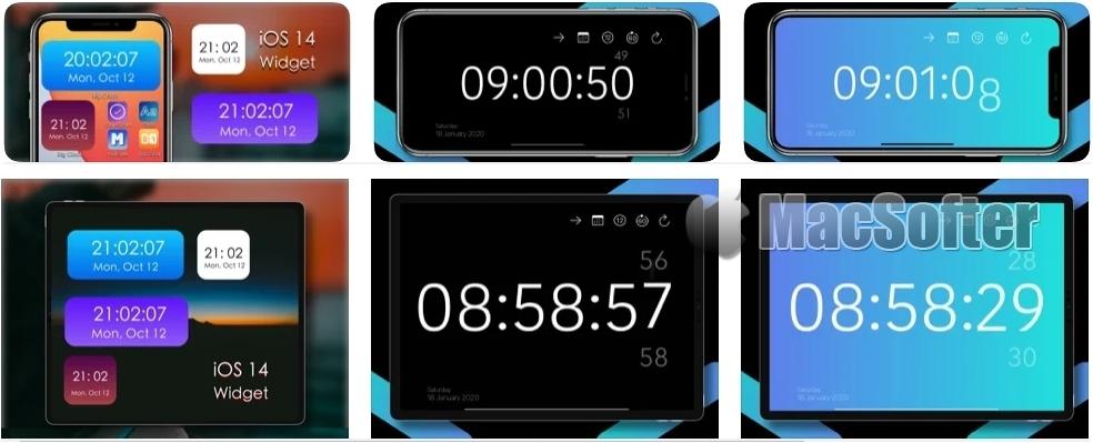 [iPhone/iPad限免] Big Clock : 个性化Widget时钟软件