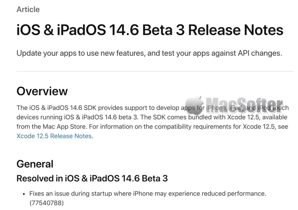 苹果承认iOS 14.5.1使iPhone性能下降 : iOS 14.6会修复