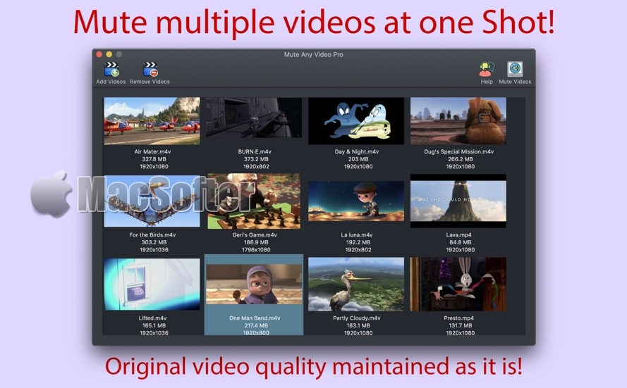 [Mac] Mute Any Video Pro : 一键视频消音工具