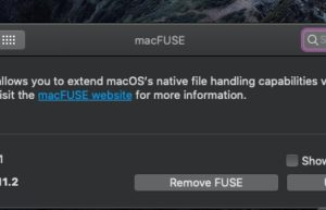 macFUSE : Mac支持NTFS文件系统读写工具