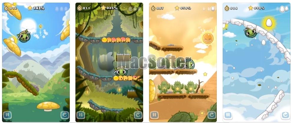 [iPhone/iPad限免] Roll Turtle 滚滚龟 :  结合解谜与动作的平台游戏