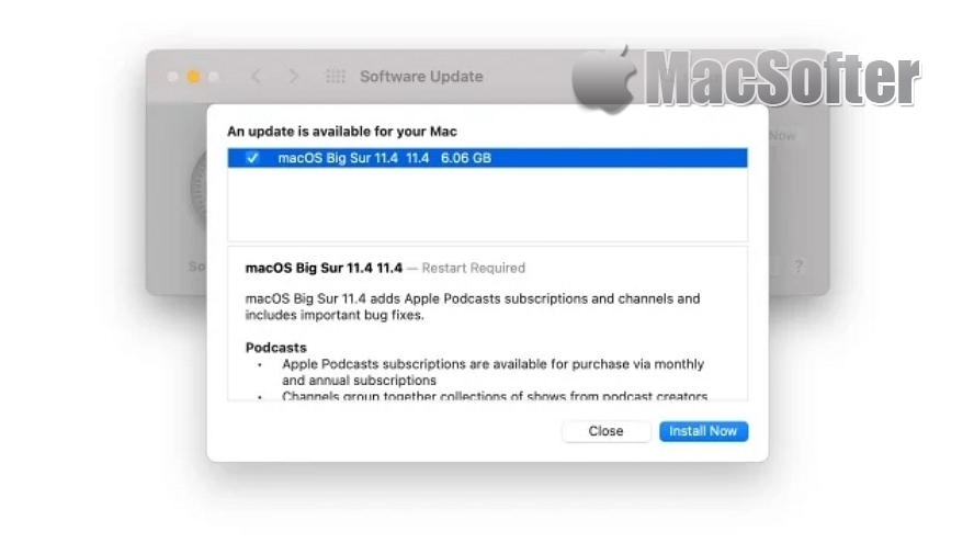 macOS Big Sur 11.4 开放更新 :支持播客订阅和无损音质