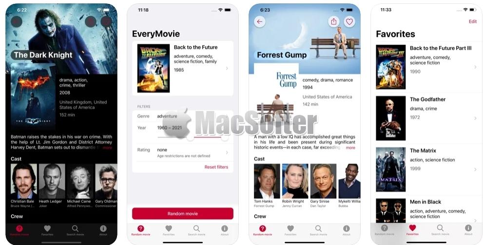 [iPhone/iPad限免] EveryMovie :电影随机推荐工具