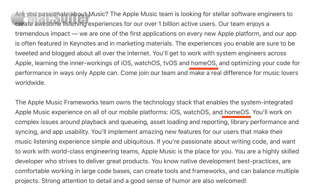 Apple将推homeOS?苹果招聘广告露端倪