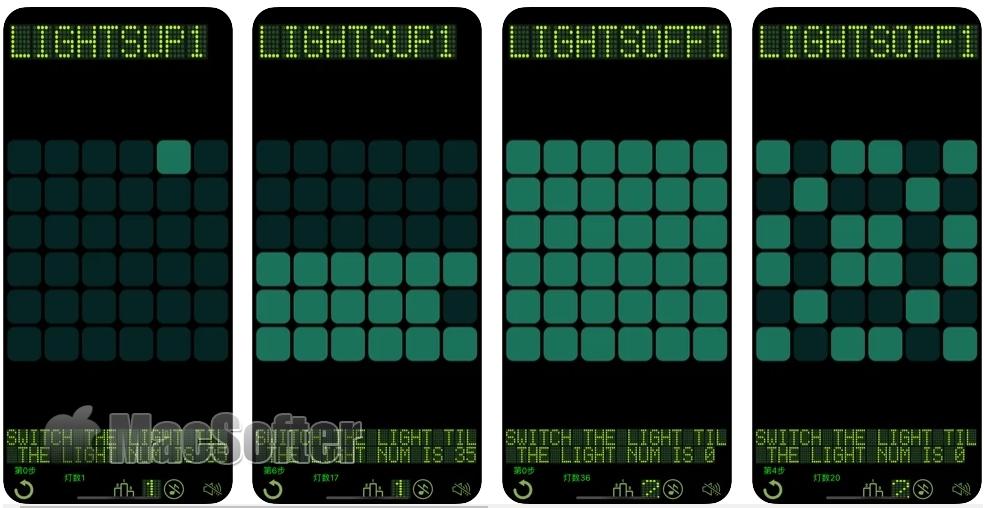 [iPhone/iPad限免] Lights Off  :开关灯经典益智解谜游戏