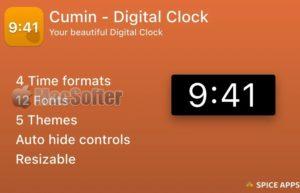 [Mac] Cumin : Mac的数字时钟软件