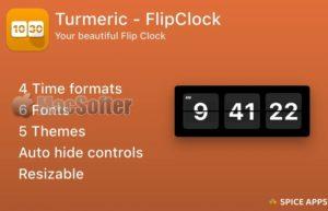 [Mac] Turmeric : Mac的精美翻页时钟软件