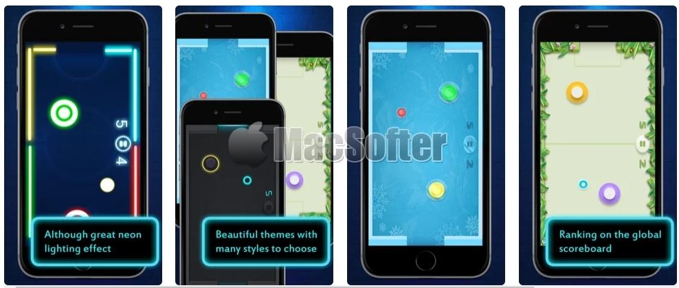 [iPhone/iPad限免] Hockey Air Neon NHL :霓虹风格空气曲棍球游戏