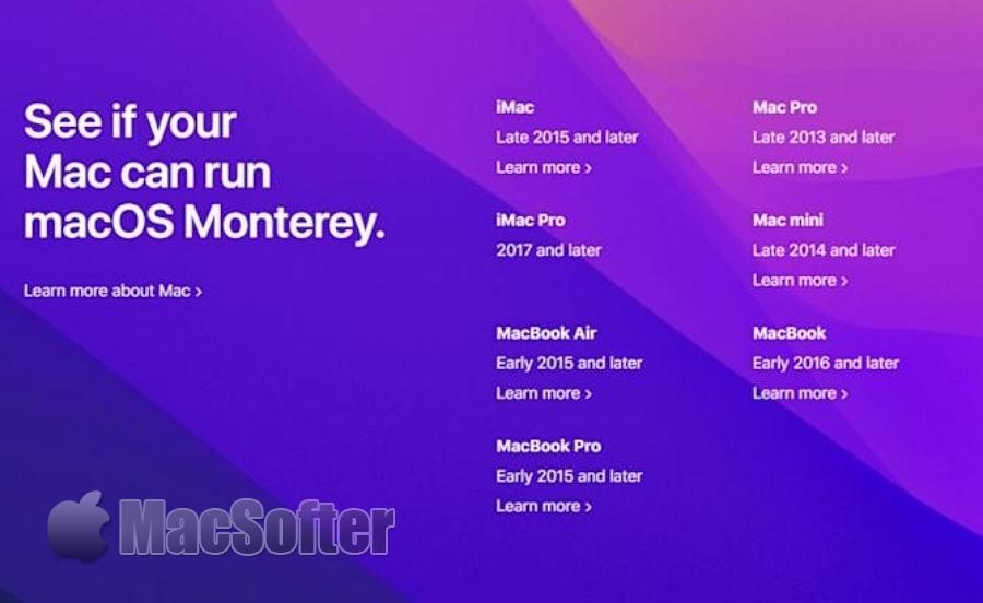 macOS 12发布:命名为Monterey
