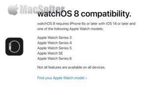 哪些Apple watch型号支持watchOS 8?watchOS 8支持型号一览