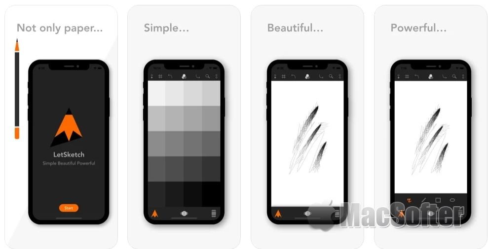 [iPhone/iPad限免] LetSketch : 草图素描软件