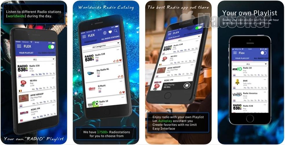 [iPhone限免] Flex Radio : 汇集全球网络电台的软件