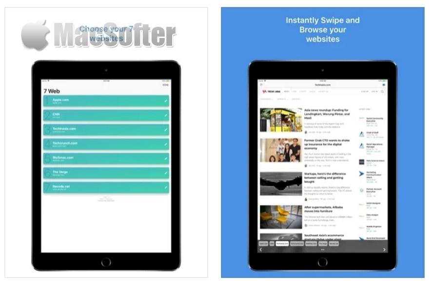 [iPhone/iPad限免] 7 Web : 网页批量一次打开工具