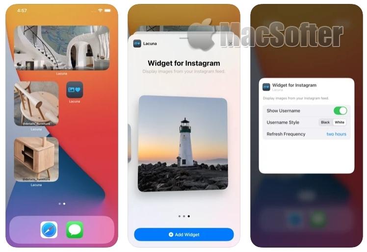 [iPhone/iPad限免] Lacuna :Instagram小组件工具