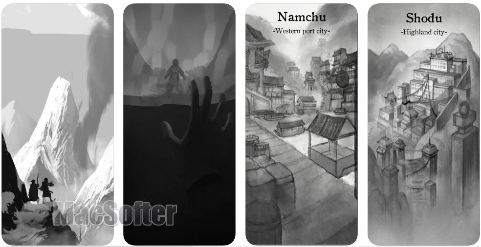 [iPhone/iPad限免] Wanderer of Lifetimes(生命漫游者) :水墨画风RPG游戏