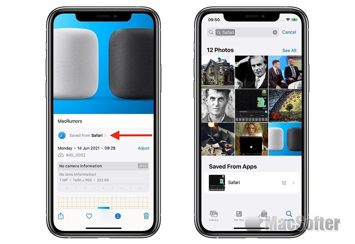 iOS 15新功能:能显示照片EXIF和来自哪个应用