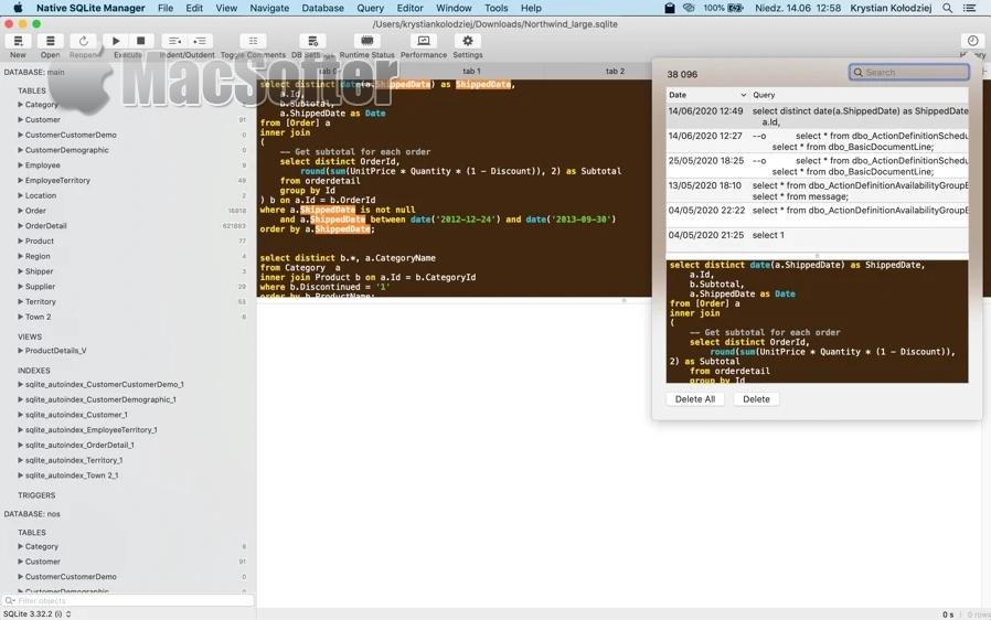 [Mac] Native SQLite Manager : 极简SQLite数据库管理工具