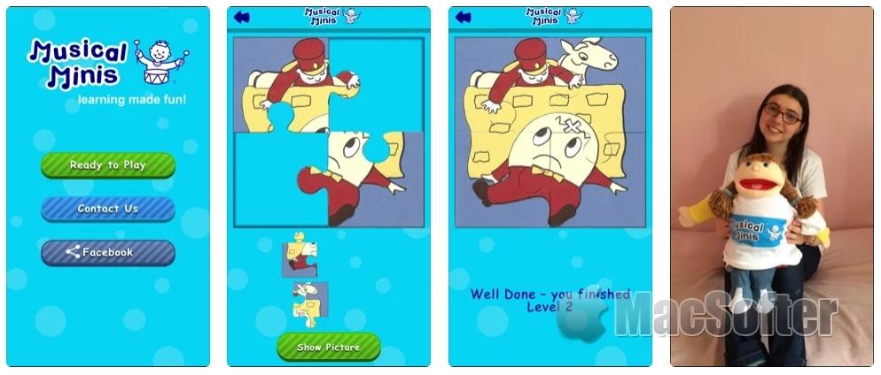 [iPhone/iPad限免] Musical Minis Rhymes Puzzles :儿童拼图游戏